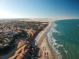 Vista aérea de Canoa Quebrada, Ceará, Brasil