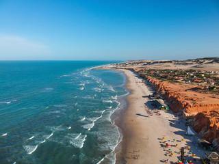 Aerial view of Canoa Quebrada Beach
