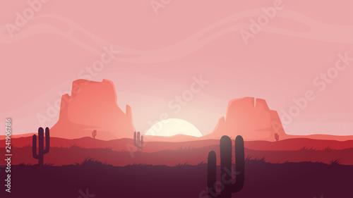 Seamless desert landscape  Beautiful high quality unending