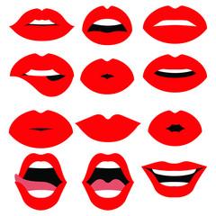 Woman lips vector design illustration