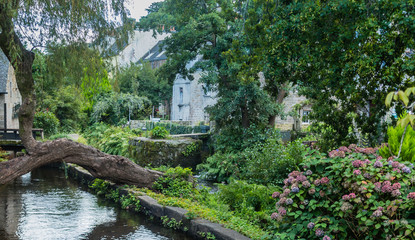 Pont-Aven, a commune in the Finistere department of Brittany (Bretagne).  France .