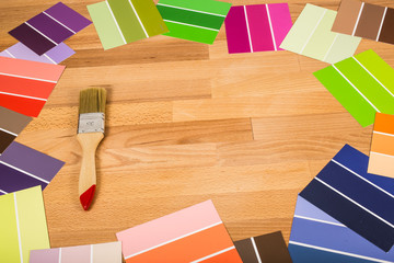 colorful color palette wall painting