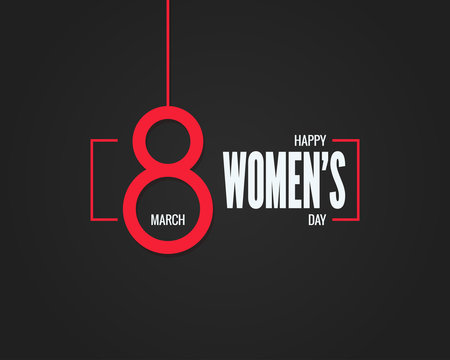 8 march banner. Womens day 8th march background