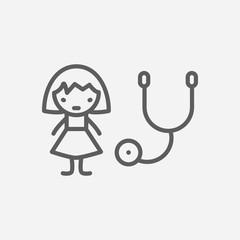 Pediatrics icon line symbol. Isolated vector illustration of  icon sign concept for your web site mobile app logo UI design.
