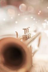 Closeup trumpet mainly bell