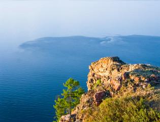 Nature of Baikal, Landscape of the shores of lake Baikal.
