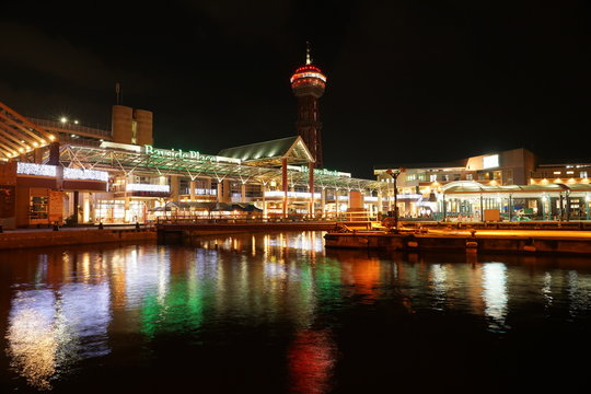 福岡市 天神 ベイサイドエリア 夜景風景