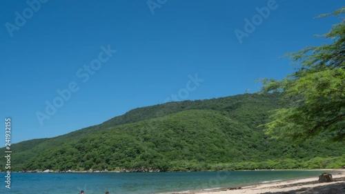 Tropical Beach Timelapse in Playa Bahia Concha of Colombia