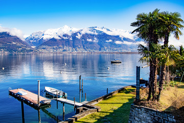 Landscape of Lake Maggiore from Vira Gambarogno, Switzerland
