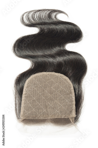Body Wavy Middle Part Black Human Hair Weaves Extensions Lace