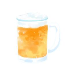 冷えている ビール 乾杯 イラスト