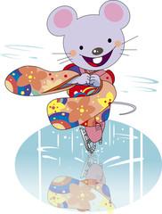 ネズミのフィギュアスケート