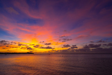グアムでの夕暮れの風景