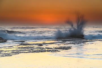 Sunrise Seascape with Splash