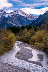Stillachtal in den Allgäuer Alpen im Herbst