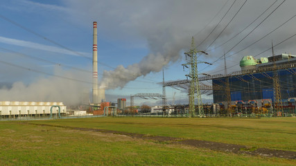 A coal plant in the Eastern Europe causing global warming, high level of carbon dioxide emissions