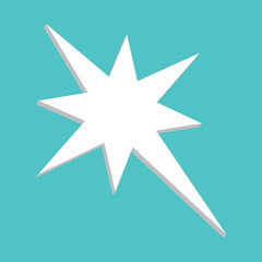 Vector image of an eight-pointed star