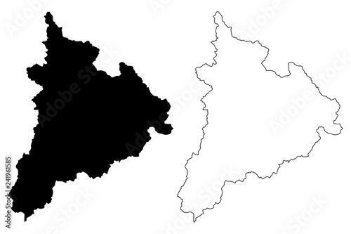 Kon Tum Province Socialist Republic Of Vietnam Subdivisions Of