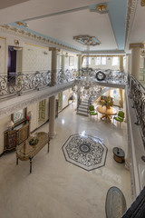 luxury lobby interior with gallery
