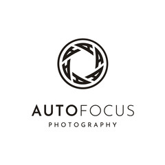 Shutter Lens with initial A for Photography / Photographer Logo design