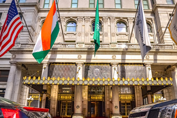 Facade of the Plaza Hotel, New York City, United States