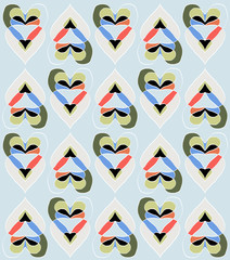 seamless pattern with heart shapes