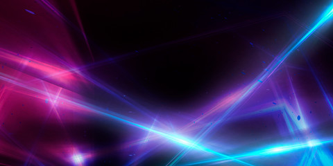 Fotomurales - Abstract background with lines and glow