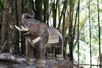 Thai temple, elephant statue