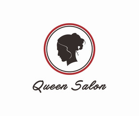 queen beauty salon logo design vector, Salon logo template