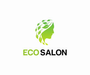 Fresh beauty salon logo design vector, Salon logo template