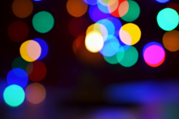blurred light bokeh background