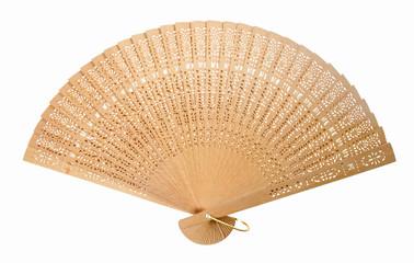 Wooden fan.