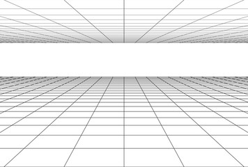 perspective grid floor background Wall mural