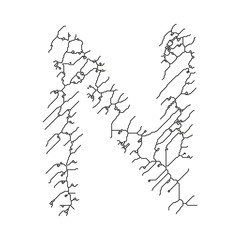 Cracked lines font