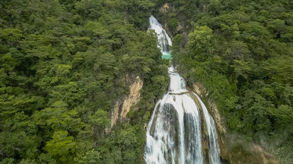 Chiflon Waterfalls in Chiapas Mexico