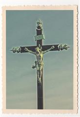Croix du Peyrou - Montpellier - vintage photograph