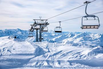 Skilift, Zillertalarena, Österreich