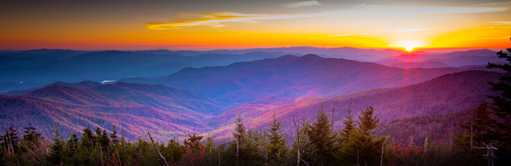 Smoky Mountain Sunset Fototapete