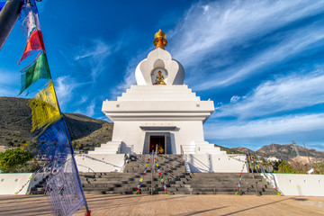 Buddha Temple Benalmádena Malaga Spain. Biggest temple in the west of the world