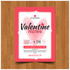 Valentine party invitation banners