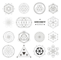 Vector set of sacred geometry symbols
