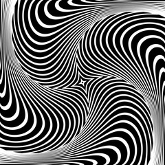 Abstract op art design. Illusion of vortex movement.