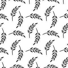 Wildflowers, spikelet victorian rural vector seamless pattern. Simplified retro illustration. Wrapping, scrapbook paper background.Childish style doodle art. Element design, wallpaper, fabric printing