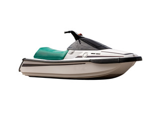 Jet ski,isolated on white background with clipping path.