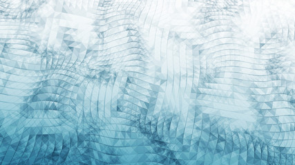 Digital data visualization. cybernetic particles. Low poly mesh. Flow. Wave. Abstract polygonal low poly wave background with connecting dots and lines. 3D rendering.