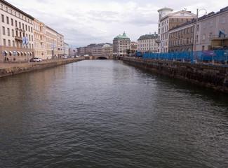 Ein Kanal im Stadtzentrum von Göteborg Schweden