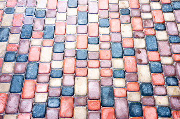 Abstract colorful background of sidewalk tiles - Sidewalk tile as a background for advertising