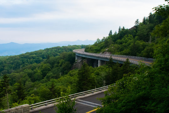 The Linn Cove Viaduct on A Cloudy Afternoon