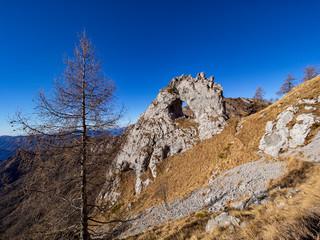 """ Bocchetta di Prada "" rock on Grigna mountain"