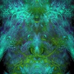 Feinteiliger fasriger Hintergrund - Intensive Farben - Tiefseefarben